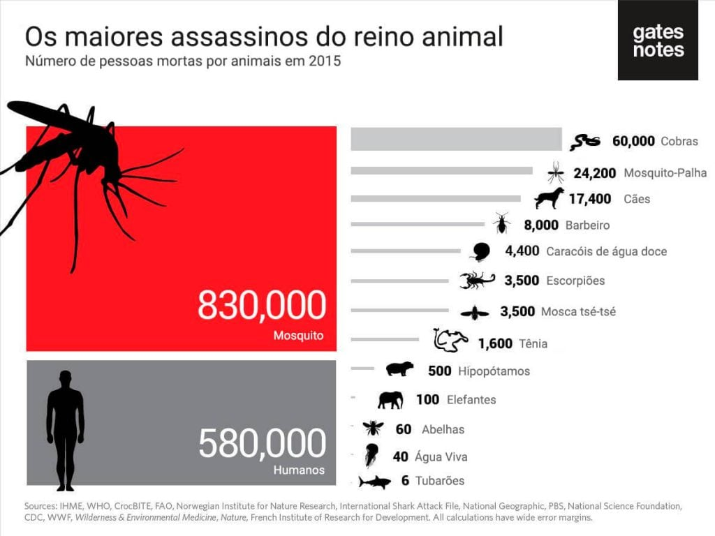 Os maiores assassinos do reino animal