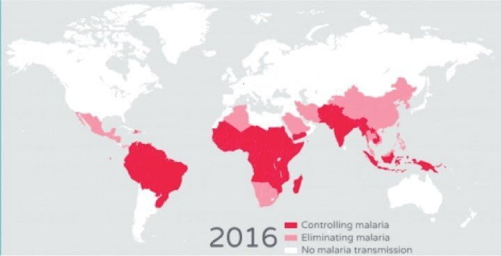 MAPA MUNDIAL - MALARIA