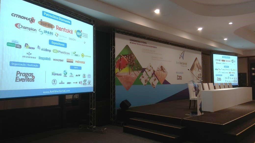 Iniciou hoje em Foz do Iguaçu o AntiVectorial: Congresso e Feira de Novas Tecnologias para Saúde Pública.